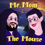 Me, Mom & The Mouse podcast cover art in the style of Disney's Wartime Era